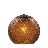 LBL Lighting Rock Candy 1 Light Low-Voltage Mini Pendant in Bronze HS546AMBZLEDFSJ