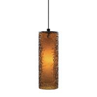LBL Lighting Rock Candy 1 Light Low-Voltage Mini Pendant in Bronze HS547AMBZ1BMPT
