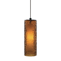 LBL Lighting Rock Candy 1 Light Low-Voltage Mini Pendant in Bronze HS547AMBZLEDFSJ