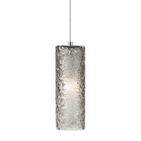Rock Candy 1 Light 4 inch Satin Nickel Low-Voltage Mini Pendant Ceiling Light in Smoke (Rock Candy), 50W, Xenon, Monorail