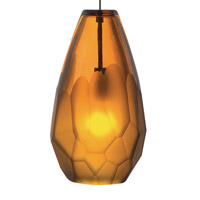 Briolette 1 Light 4 inch Bronze Low-Voltage Pendant Ceiling Light in Amber (Briolette), 50W, Xenon, Fusion Jack (no canopy)