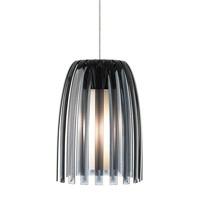 Olivia 1 Light 7 inch Satin Nickel Low-Voltage Mini Pendant Ceiling Light in Smoke (Olivia), Xenon, Monopoint
