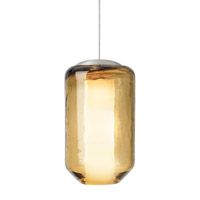 Mason 1 Light 5 inch Satin Nickel Low-Voltage Mini Pendant Ceiling Light in Amber (Mason), 50W, Xenon, Fusion Jack (no canopy)