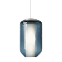 Mason 1 Light 5 inch Satin Nickel Low-Voltage Mini Pendant Ceiling Light in Steel Blue (Mason), 50W, Xenon, Fusion Jack (no canopy)