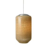 LBL Lighting Aiko 1 Light Low-Voltage Mini Pendant in Satin Nickel HS577IVSC1BFSJ