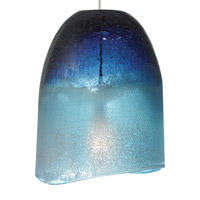 Chill 1 Light 6 inch Satin Nickel Low-Voltage Pendant Ceiling Light in Blue (Chill), Fusion Jack (no canopy)