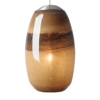 Emi 1 Light 4 inch Satin Nickel Low-Voltage Pendant Ceiling Light in Light Chocolate/Brown, 50W, Xenon, Fusion Jack (no canopy)