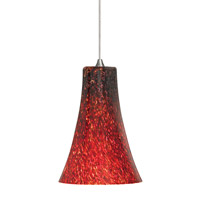 Indulgent 1 Light 4 inch Satin Nickel Low-Voltage Mini Pendant Ceiling Light in Red (Indulgent), 50W, Xenon, Fusion Jack (no canopy)