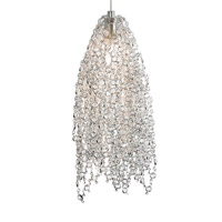 LBL Lighting Mademoiselle 1 Light Low-Voltage Pendant in Satin Nickel HS686CCSCLEDFSJ