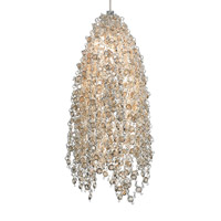 Mademoiselle 1 Light 3 inch Satin Nickel Low-Voltage Pendant Ceiling Light in Golden Shadow Crystal, 7.5W, Monorail