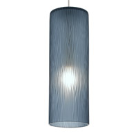 Akari 1 Light 4 inch Satin Nickel Low-Voltage Mini Pendant Ceiling Light in Steel Blue (Akari), 35W, Xenon, Fusion Jack (no canopy)