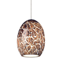 Lilah 1 Light 5 inch Satin Nickel Low-Voltage Pendant Ceiling Light in Eggplant, Monopoint
