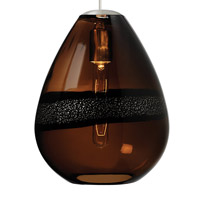 LBL Lighting LF581BRSC2D Miyu 1 Light 10 inch Satin Nickel Line-Voltage Pendant Ceiling Light in Dark Brown (Miyu I)