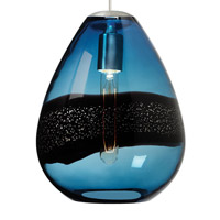 LBL Lighting LF581BUSC2D Miyu 1 Light 10 inch Satin Nickel Line-Voltage Pendant Ceiling Light in Steel Blue (Miyu I)