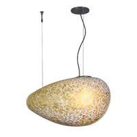 Constellation 1 Light 12 inch Bronze Suspension Light Ceiling Light in Amber (Constellation), Fluorescent