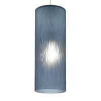 LBL Lighting LP797BUSCCF Akari 1 Light 6 inch Satin Nickel Line-Voltage Pendant Ceiling Light in Steel Blue (Akari), Fluorescent, 120V