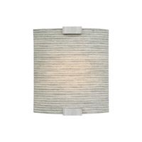 Omni LED 4 inch Silver Wall Wall Light in Dry, Fabric Pewter, 120V