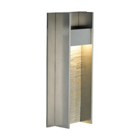 LBL Lighting Tav 1 Light Outdoor Wall in Stone/Gunmetal OD734STGMLEDW