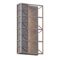 LBL Lighting OD771AOLED277W East River LED 12 inch Brushed Aluminum and Orange Outdoor Wall in 277V