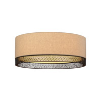 LBL Lighting Hollywood Beach 3 Light Flush Mount in Bronze PC651TNBZCF