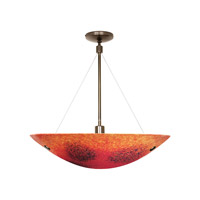 LBL Lighting Veneto Grande 3 Light Suspension Light in Bronze PF318RDBZ326