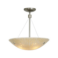 LBL Lighting Ambra 3 Light Suspension Light in Satin Nickel PF399AMSC326