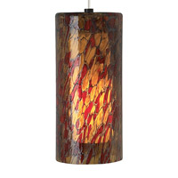 Abbey Grande 1 Light 10 inch Satin Nickel Line-Voltage Pendant Ceiling Light in Amber-Red, 120V