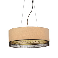 LBL Lighting Hollywood Beach 4 Light Suspension Light in Bronze PF650TNBZCF