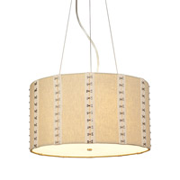 LBL Lighting Glama 4 Light Suspension Light in Satin Nickel PF657NTSCCF