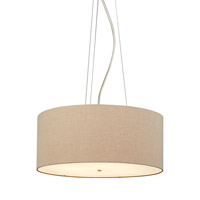LBL Lighting Fiona Grande 4 Light Suspension Light in Satin Nickel PF680PBSCCF