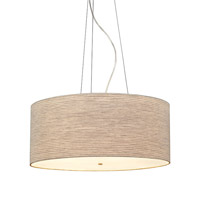 LBL Lighting Fiona Grande 4 Light Suspension Light in Satin Nickel PF680PESCCF