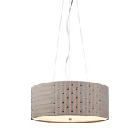 LBL Lighting Elba 4 Light Suspension Light in Satin Nickel PF683GYSCCF