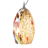 LBL Lighting Monty 1 Light Line-Voltage Pendant in Polished Chrome PF935OPPC27GU