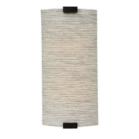 Omni 1 Light 8 inch Bronze ADA Wall Wall Light in Dry, Fabric Pewter, 120V