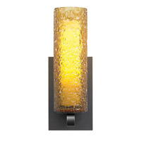 LBL Lighting PW623AMBZCF1HE Rock Candy 1 Light 4 inch Bronze Wall Sconce Ceiling Light in Amber (Rock Candy), 120V