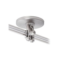 LBL Lighting 2-Circuit Monorail Direct Feed Canopy Dual Feed in Satin Nickel REMOTECNPYDIRDFSC-2C