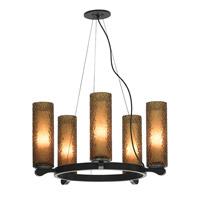 LBL Lighting Rock Candy 5 Light Chandelier in Bronze SU6235AMBZ2G