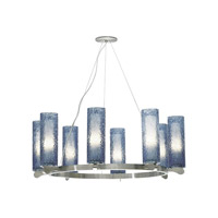 LBL Lighting Rock Candy 8 Light Chandelier in Satin Nickel SU6238BUSC2G