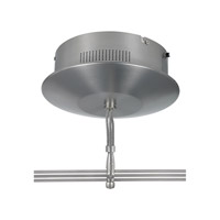 LBL Lighting 2-Circuit Monorail Surface Magnetic Transformer 500w 120v/12v in Satin Nickel TRANS-SFM500-2-SC