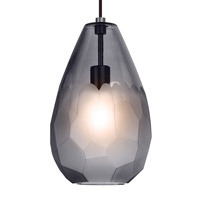 Briolette LED 9 inch Bronze Line-Voltage Pendant Ceiling Light in Smoke (Briolette)