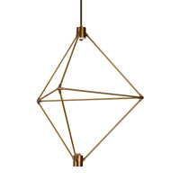 Candora LED 29 inch Aged Brass Chandelier Ceiling Light