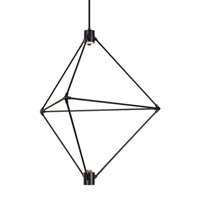 Candora LED 29 inch Black Chandelier Ceiling Light