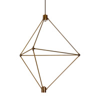 Candora LED 34 inch Aged Brass Chandelier Ceiling Light