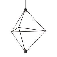 Candora LED 34 inch Black Chandelier Ceiling Light