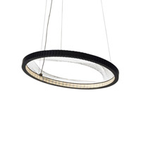 LBL Interlace LED Suspension in Rubberized Black SU832BLLED827277