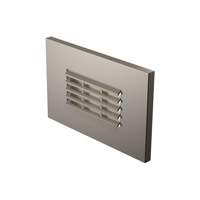 Louver 277V 2.5 watt Satin Nickel Step Light in Standard, Horizontal