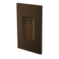 Louver 120V 2.5 watt Bronze Vertical LED Step Light in Standard