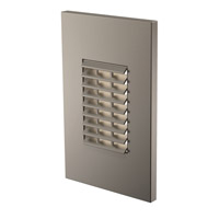 Louver 277V 2.5 watt Satin Nickel Step Light in Standard, Vertical