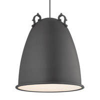 LBL Malka 1 Light Line-Voltage Pendant in Rubberized Charcoal Gray LP837GYCF277