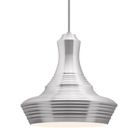Menara 1 Light 14 inch Aluminum Line-Voltage Pendant Ceiling Light in Incandescent, Aluminum (Menara)